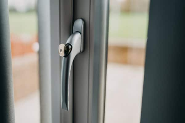 Image of new fitted uPVC door with secure lock